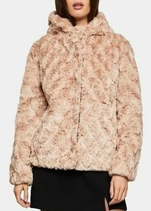 BCBGeneration Blush Faux-Fur Jacket.